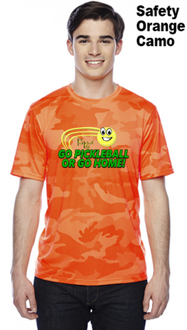 Go Pickleball Or Go Home Unisex Champion Camo Colors Athletic Workout Tee