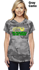 Go Pickleball Or Go Home Ladies Champion Camo Colors Athletic Workout Tee
