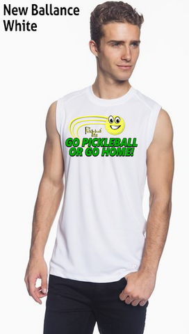 Go Pickleball Or Go Home! Men's New Balance Ndurance Sleeveless Tee