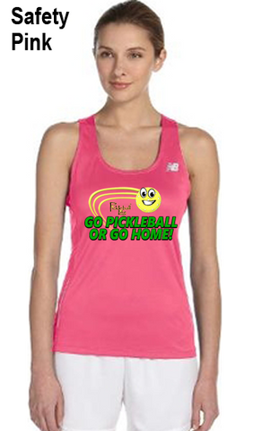 Go Pickleball or Go Home! Ladies' New Balance Performance Quick Dry Singlet Tank