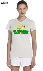 Go Pickleball or Go Home! Ladies' New Balance Ndurance Athletic V‑Neck Tee
