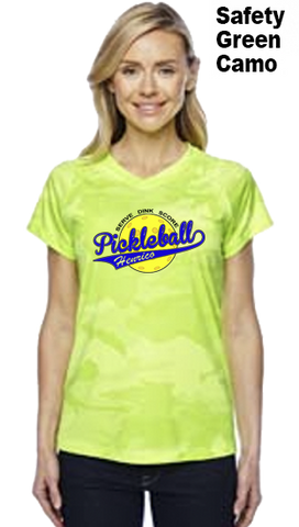 Henrico Pickleball Ladies Color Print Champion Color Print Camo Colors Athletic Workout Tee