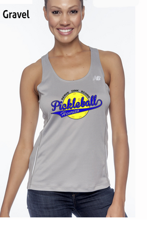 Henrico Pickleball Ladies' Color Print New Balance Performance Quick Dry Singlet Tank