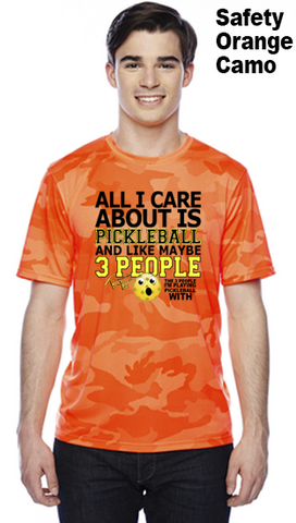 All I Care About Is Pickleball Unisex Champion Camo Colors Athletic Workout Tee