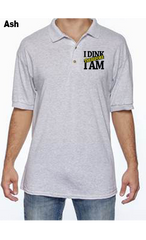I Dink Therefore I Am 50/50 POLY/COTTON UNISEX POLO SHIRT