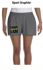 I Dink Therefore I Am Ladies' All Sport for Team 365 Ladies' Performance Short