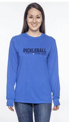 Pickleball It's What I Do Now Jerzzies Performance Unisex Long Sleeve Tee