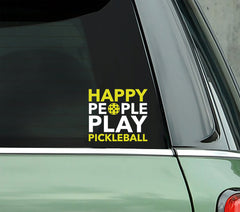 Happy People Play Pickleball - PICKLEBALLXTRA VINYL STICKER