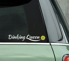Dinking Queen Pickleball - PICKLEBALLXTRA VINYL STICKER