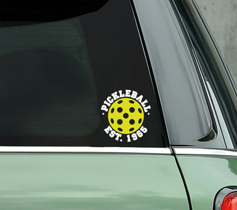Pickleball Est. 1965 Decal - PICKLEBALLXTRA VINYL STICKER