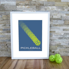 Pickleball Art Print - The Pickleball Poster - Blue Pickleball Modern Print - PickleballXtra