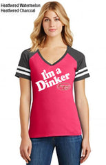 I'm a Dinker Ladies Game V-Neck Tee by District