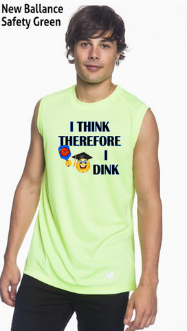 I Think Therefore I Dink Men's New Balance Ndurance Sleeveless Tee