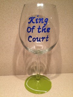 KING OF THE COURT WINE GLASS