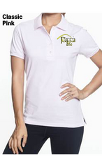 Pickleball Life (Lt. Chest Print) 50/50 POLY/COTTON WOMEN'S POLO SHIRT