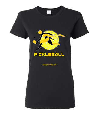 COLLEGE GOLD & BLACK PICKLEBALL WOMEN'S TEE