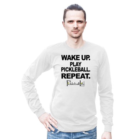 WAKE UP PLAY PICKLEBALL Long sleeve t-shirt (unisex)
