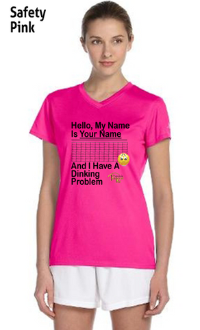 "My Name Is ""Your Name Here"" And I Have A Dinking  Ladies' New Balance Ndurance Athletic V‑Neck Tee"
