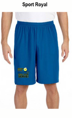 Never Ever Miss Your Serve Men's All Sport for Team 365 Men's Performance Short