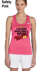 I Played Pickleball Before Pickleball Was Cool Ladies' New Balance Performance Quick Dry Singlet Tank