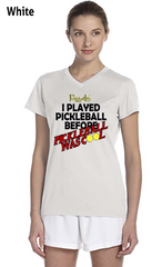 I Played Pickleball Before Pickleball Was Cool Ladies' New Balance Ndurance Athletic V‑Neck Tee