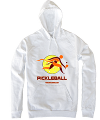 COLLEGE BURGUNDY & ORANGE PICKLEBALL HOODY