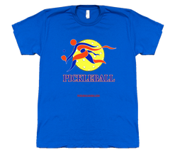 COLLEGE BLUE & ORANGE PICKLEBALL TEE