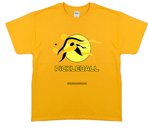 COLLEGE GOLD & BLACK PICKLEBALL TEE