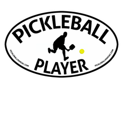 PICKLEBALL PLAYER VINYL DECAL