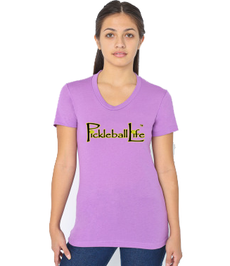 PICKLEBALL LIFE WOMEN'S DEEP NECK TEE