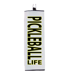 Pickleball Life Block Font Microfiber Hand Towel