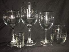 Pickleball Life Wine/Beer and other Etched Glasses