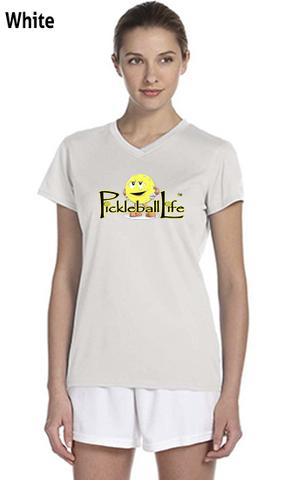 "Pickleball Life w/ ""Dink"" Ladies' New Balance Ndurance Athletic V‑Neck Tee"