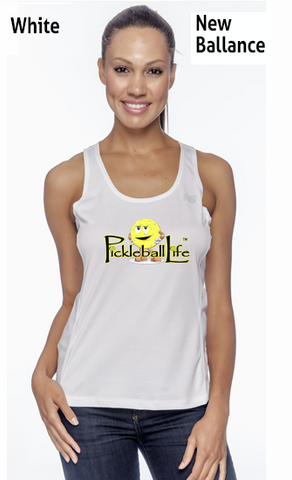 "Pickleball Life w/ ""Dink"" Ladies' New Balance Performance Quick Dry Singlet Tank"