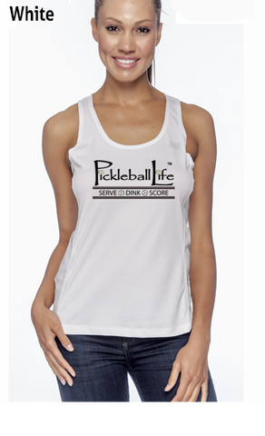 Pickleball Life-Serve Dink Score Ladies' Color Print New Balance Performance Quick Dry Singlet Tank