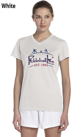 Pickleball Life Est. 1965 Ladies' New Balance Ndurance Athletic V‑Neck Tee