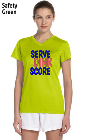 Serve Dink Score Ladies' New Balance Ndurance Athletic V‑Neck Tee