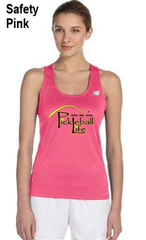 Pickleball Life - Serve, Dink, Score -  Ladies' New Balance Performance Quick Dry Singlet Tank