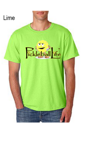 PICKLEBALL LIFE MASCOT 50/50 POLY/COTTON UNISEX TEE