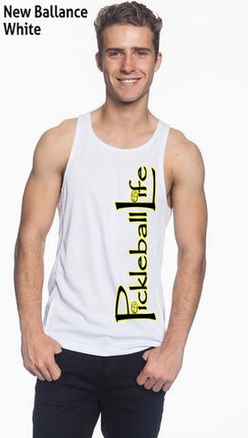 Pickleball Life Sideways Men's New Balance Tank Top Singlet