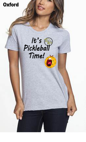 It's Pickleball Time WOMEN'S 50/50 POLY/COTTON TEE