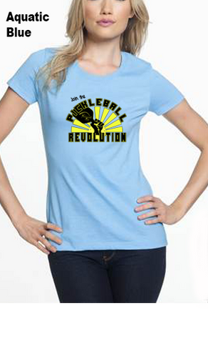 Join The Pickleball Revolution WOMEN'S 50/50 POLY/COTTON TEE