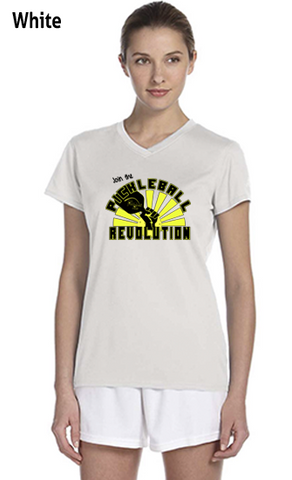 Join The Pickleball Revolution Ladies' New Balance Ndurance Athletic V‑Neck Tee