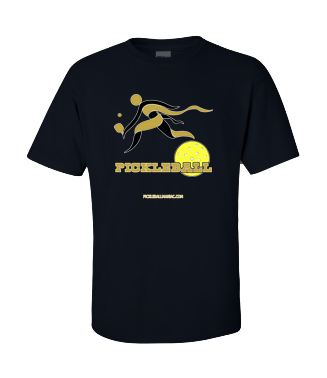 COLLEGE BLACK & GOLD PICKLEBALL TEE