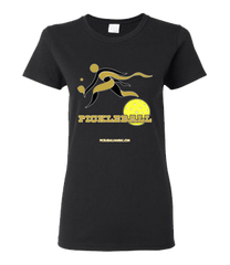COLLEGE BLACK & GOLD PICKLEBALL WOMEN'S TEE
