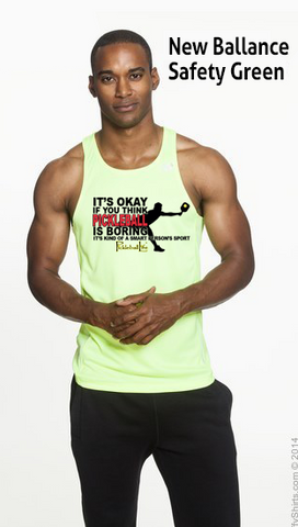 Pickleball Is A Smart Person's Sport Men's New Balance Tank Top Singlet