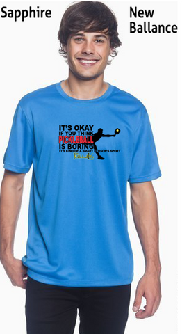 Pickleball Is A Smart Person's Sport Men's New Balance Ndurance Athletic Workout Tee