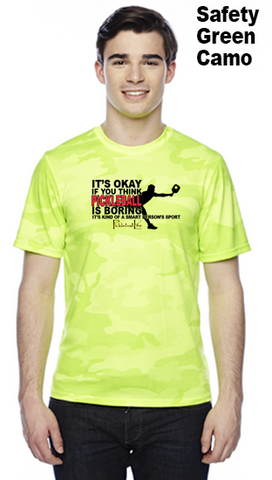 Pickleball Is A Smart Person's Sport Unisex Champion Camo Colors Athletic Workout Tee