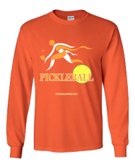 COLLEGE ORANGE & WHITE PICKLEBALL LONG SLEEVE SHIRT