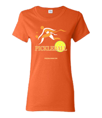 COLLEGE ORANGE & WHITE PICKLEBALL WOMEN'S TEE
